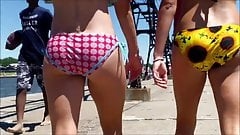 Candid Beach Bikini Butt Ass West Michigan Booty 2 Hotties