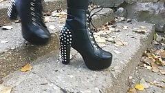Lady L walking stud sexy boots(down)'s Thumb
