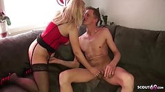 German MILF Sister Jenny Help Bro with Sex by lovesickness