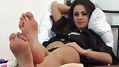 White women sexy feet