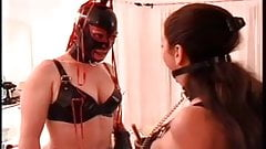 Latex Sub serves her Mistress honey
