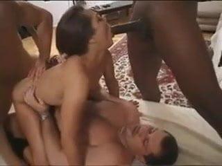 Pornstar slut crying in black gangbang anal sex