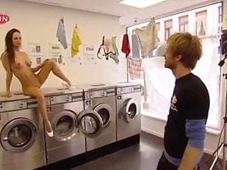 Public Nudity 5: Totally naked photoshoot in launderette