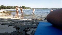 Hot girl on nude beach