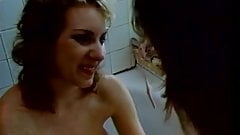 Lesbians shower and lick pussy in the bathroom