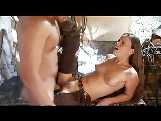 Thin Cowgirl Rides 2 Cowboy Cocks with Pussy n Ass