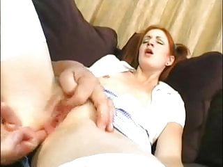 Lovely young brunette has her pussy stretched and her tight ass fucked hard