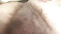 her soft round hairy mound and soft titts and nipple,