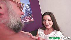Young Anita Bellini on older dick on ZoliBoy