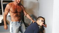 Mature Gays Visits a Gloryhole