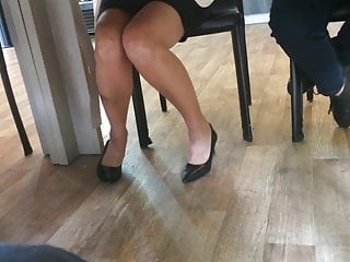 Candid feet and heels at work #19