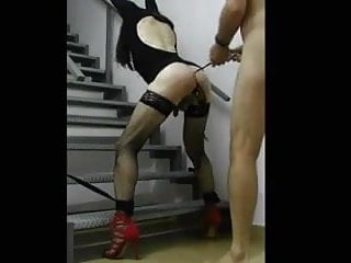 TS slave fucked by master