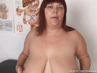 Super sexy big tits mature BBW fucks her soaking wet pussy