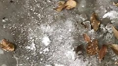 Public Pissing In The Snow