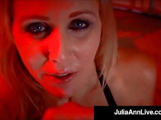 Busty Blonde Milf Julia Ann Smokes A Big Cock & Cigarette!