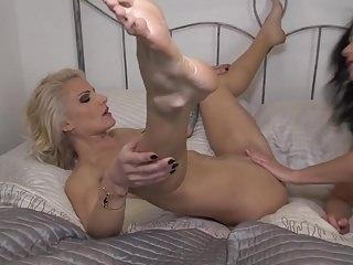 Beautiful mother licks and fucks hot daughter