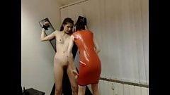 lesbian domina session on cam