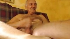 horny grandpa jerking off