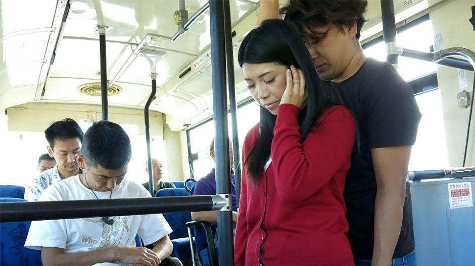 Japanese brunette, Aimi Nagano acquired fucked within the bus, uncens