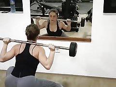 Sexy Serbian bitch Tamara working out 3