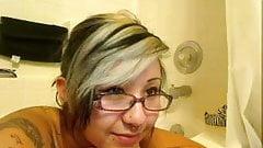 blonde asian in bath