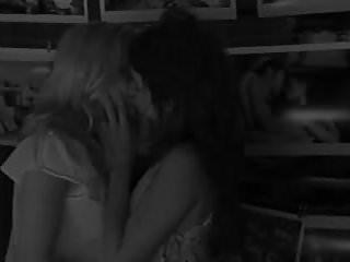 Scarlett Johansson kissing Penelope Cruz