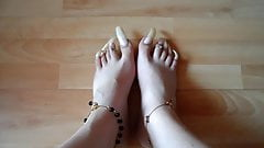 Long Clear Toenails