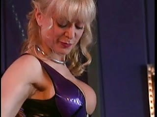 Nina Hartley and her cute slave enjoying themselves
