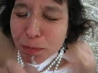 Milf Facial, great tits, oozing pussy