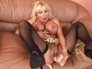 chubby mature blonde toying and fucking