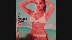 Jessica Alba cumshot tribute