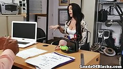 Auditioning curvy amateur takes cum in mouth