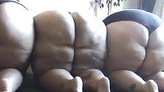 Three BBWs Compare Their Fat Asses