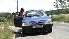 Czech whore sex in car