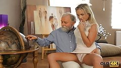 OLD4K. Fetching lassie Shanie Ryan gets old dick in mouth