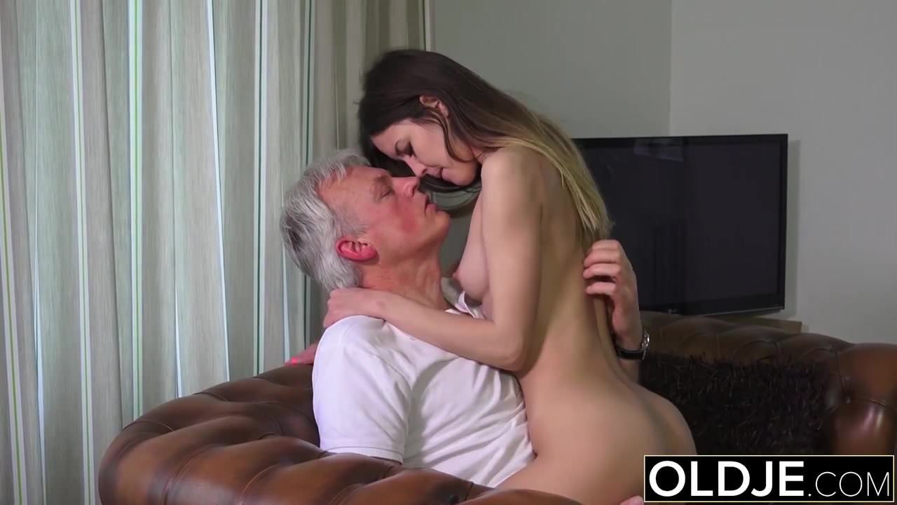 woman clit pron old man