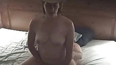 Cowgirl Rides Cock to Orgasm's Thumb