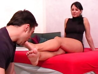 Fetish Girls order guys to lick their feet