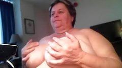 Mamie bbw webcam  masturbation