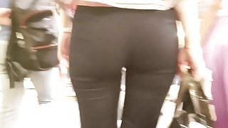 View of the blonde's ass