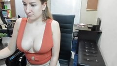 Downblouse In The Office 5