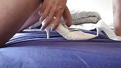 Cum in wifes bridal heel