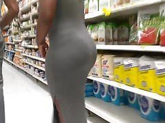 Perfect Ass Body in Grey Dress Part 1