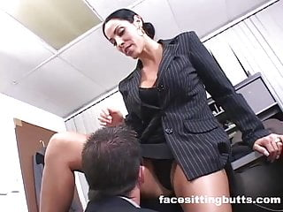 Employee fucks the boss and keeps his lousy job