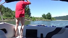 Stroking on the boat
