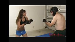MMA Fight: Cindy vs Headgear Guy