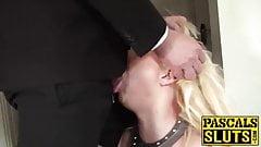 Busty blonde Jaiden West fucked like a true submissive slut