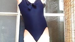 One piece swimwear action