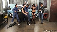 Group Sex In The Fifties Garage