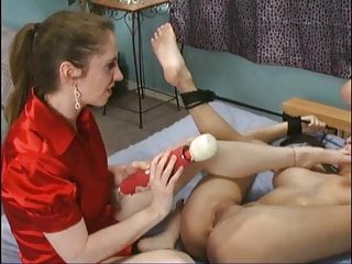 April o'neil pizza delivery girl gets tied up BDSM lezdom